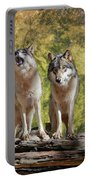 Howling Wolves Portable Battery Charger