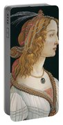 Portrait Of A Young Woman, Portrait Of Simonetta Vespucci As Nymph Portable Battery Charger