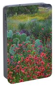 Indian Blanket Flowers And Opuntia Portable Battery Charger