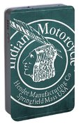 Indian Motorcycle Old Vintage Logo Green Background Portable Battery Charger