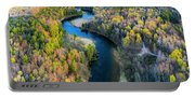 Manistee River From Above In Spring Portable Battery Charger