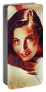 Michele Morgan, Vintage Actress Portable Battery Charger