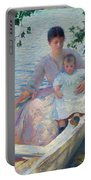 Mother And Child In A Boat Portable Battery Charger