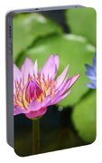 Pink Lotus Water Flower Portable Battery Charger