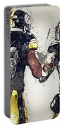 Pittsburgh Steelers.le'veon Bell And Antonio Brown Portable Battery Charger