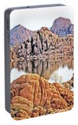 Prescott Arizona Watson Lake Rocks, Hills Water Sky Clouds 3122019 4868 Portable Battery Charger