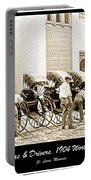 Rickshas And Drivers, 1904 Worlds Fair Portable Battery Charger