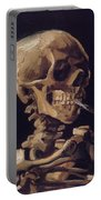 Skull With Cigarette  Portable Battery Charger