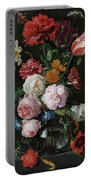 Still Life With Flowers In A Glass Vase, 1683 Portable Battery Charger
