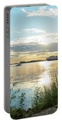 Sunset On The Elbe Portable Battery Charger