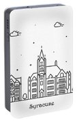 Syracuse, New York Cityscape Travel Poster Portable Battery Charger