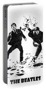 The Beatles Black And White Watercolor 01 Portable Battery Charger