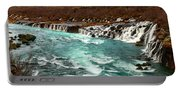 The Beautiful Cascades Of Hraunfossar In Iceland. Portable Battery Charger