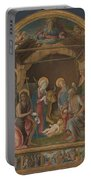 The Nativity With Saints Altarpiece  Portable Battery Charger