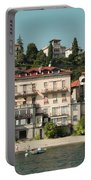 Town In The Shore Of Lake Como Portable Battery Charger