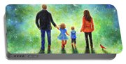 Twilight Walk With Mom And Dad Portable Battery Charger
