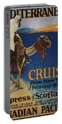 Vintage Poster -  Mediterranean Cruises Portable Battery Charger