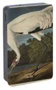 Whooping Crane  From The Birds Of America  Portable Battery Charger