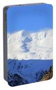 Wind Blows Over The Kenai Mountains Alaska Portable Battery Charger