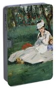 The Monet Family In Their Garden At Argenteuil  Portable Battery Charger