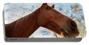 Horse In A Countryside Portable Battery Charger
