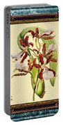 Vintage Orchid Antique Design Marble Blue-green  Portable Battery Charger