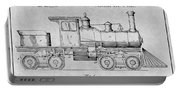 1891 Huber Locomotive Engine Gray Patent Print Portable Battery Charger