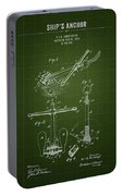 1892 Ships Anchor - Dark Green Blueprint Portable Battery Charger