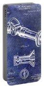 1896 Fire Hose Spray Nozzle Patent Blue Portable Battery Charger
