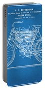 1901 Stratton Motorcycle Blueprint Patent Print Portable Battery Charger