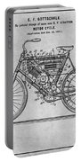 1901 Stratton Motorcycle Gray Patent Print Portable Battery Charger
