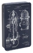 1903 Fire Hydrant Blackboard Patent Print Portable Battery Charger