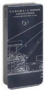 1903 Railroad Derrick Blackboard Patent Print Portable Battery Charger