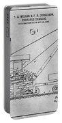 1903 Railroad Derrick Gray Patent Print Portable Battery Charger