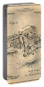 1913 Side Car Attachment For Motorcycle Antique Paper Patent Print Portable Battery Charger