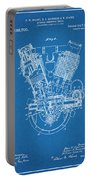 1914 Spacke V Twin Motorcycle Engine Blueprint Patent Print Portable Battery Charger