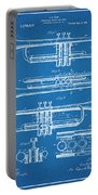 1916 Trumpet And Cornet Blueprint Patent Print Portable Battery Charger