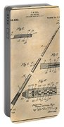 1917 Billiard Pool Cue Antique Paper Patent Print Portable Battery Charger