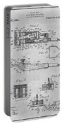 1919 Motor Driven Hair Clipper Gray Patent Print Portable Battery Charger