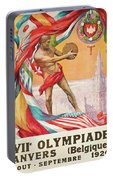 1920 Summer Olympics Vintage Poster Portable Battery Charger