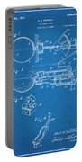 1924 Ice Cream Scoop Blueprint Patent Print Portable Battery Charger