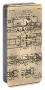 1925 Turbine Driven Locomotive Antique Paper Patent Print  Portable Battery Charger