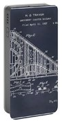 1927 Roller Coaster Blackboard Patent Print Portable Battery Charger