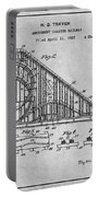 1927 Roller Coaster Gray Patent Print Portable Battery Charger