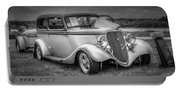 1933 Ford Tudor Sedan With Trailer Portable Battery Charger