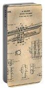 1937 Trumpet Antique Paper Patent Print Portable Battery Charger