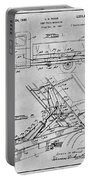1939 Dump Truck Gray Patent Print Portable Battery Charger