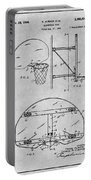 1944 Basketball Goal Gray Patent Print Portable Battery Charger
