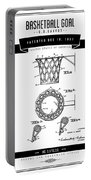 1951 Basketball Goal - Black Retro Style Portable Battery Charger