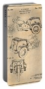 1952 3 Three Wheel Motorcycle Antique Paper Patent Print Portable Battery Charger
